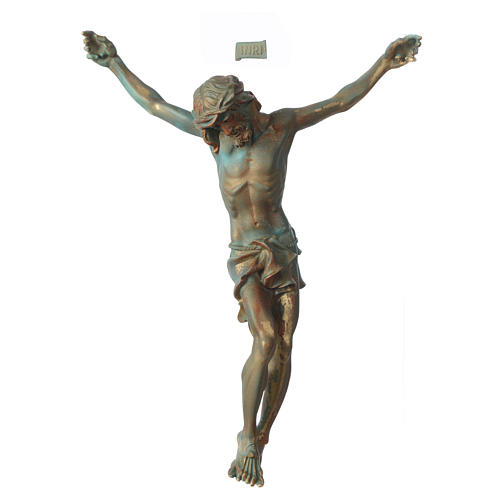 Christ's body marble dust finished in bronze 1
