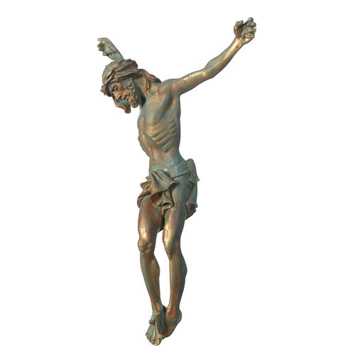 Christ's body marble dust finished in bronze 2