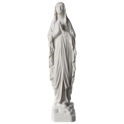 Our Lady of Lourdes statue 22 cm in marble dust 1