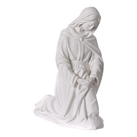Complete Nativity set of 7 pieces in Carrara marble dust, 30cm s4