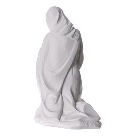 Complete Nativity set of 7 pieces in Carrara marble dust, 30cm s10