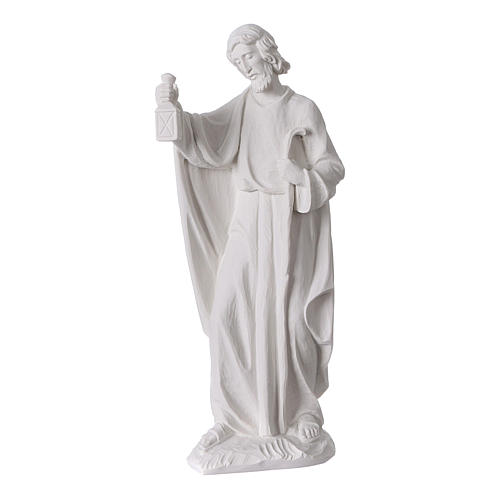 Complete Nativity set of 7 pieces in Carrara marble dust, 30cm 5