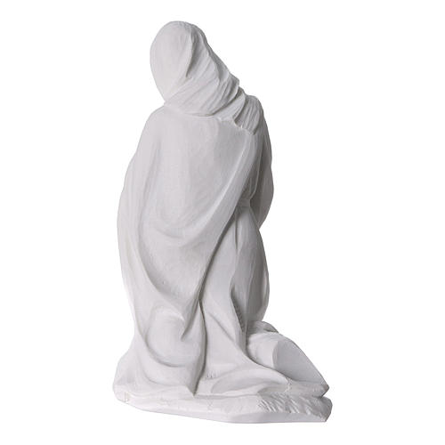 Complete Nativity set of 7 pieces in Carrara marble dust, 30cm 10