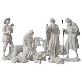 Belén completo con 9 figuras de polvo de mármol 30 cm s2