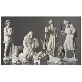 Belén completo con 9 figuras de polvo de mármol 30 cm s3