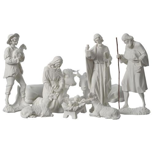 Belén completo con 9 figuras de polvo de mármol 30 cm 2