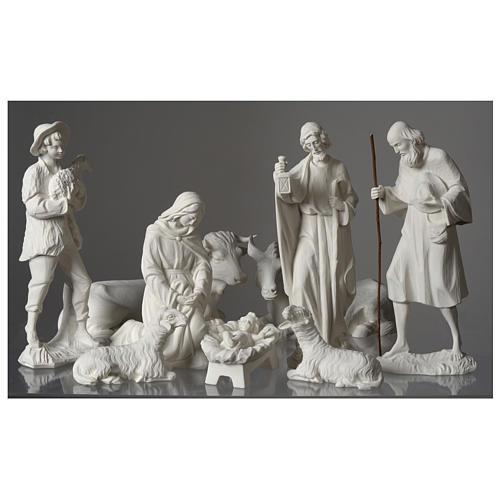 Belén completo con 9 figuras de polvo de mármol 30 cm 3