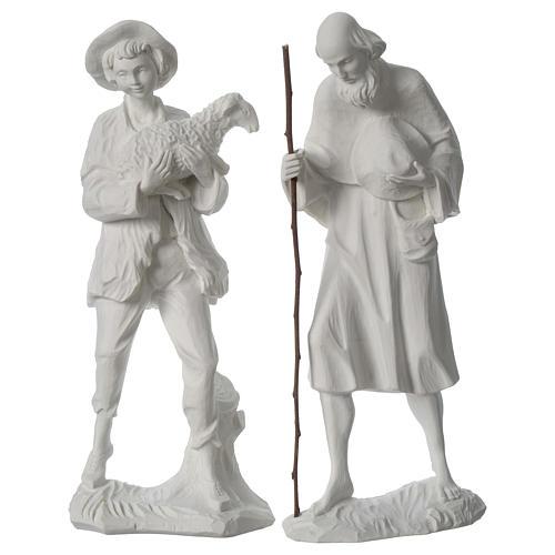 Belén completo con 9 figuras de polvo de mármol 30 cm 6