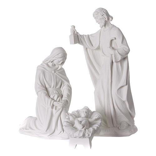 Belén completo con 7 figuras de polvo de mármol 30 cm 2