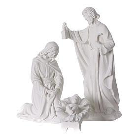 Crèche Noël 7 santons marbre reconstitué 30cm s2