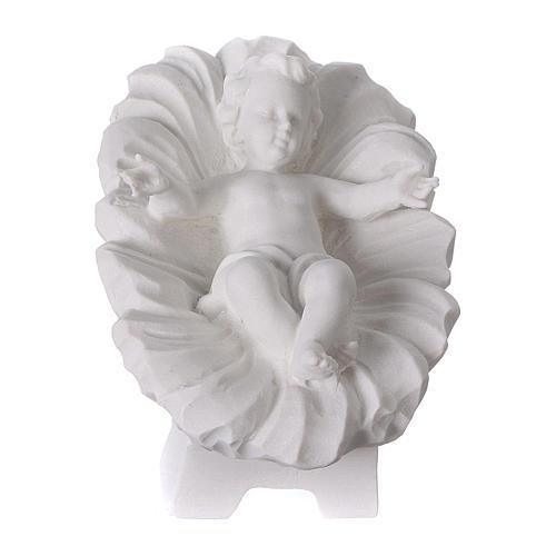 Crèche Noël 7 santons marbre reconstitué 30cm 3