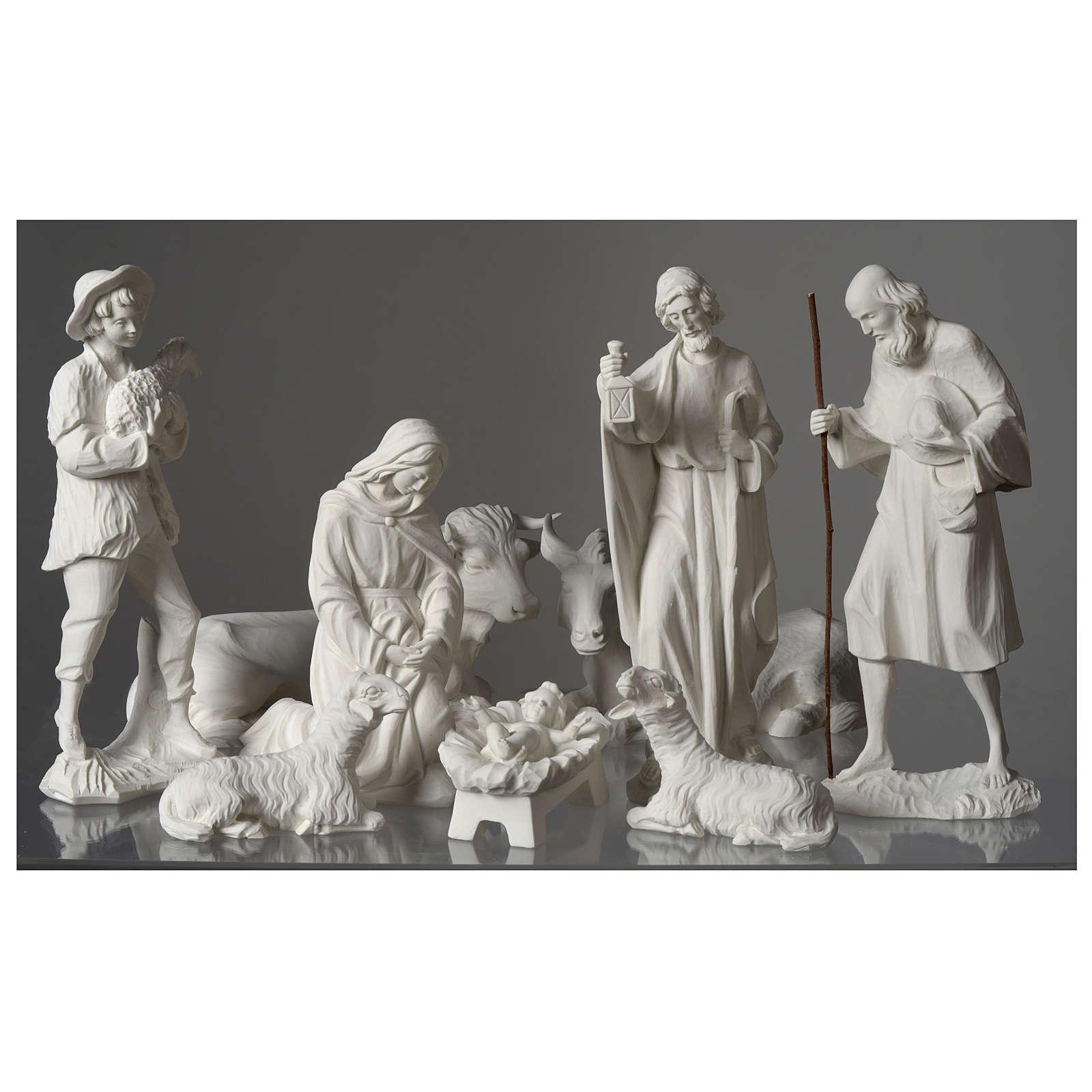 Presepe completo 30 cm polvere di marmo 9 pz 4