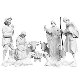 Presepe completo 30 cm polvere di marmo 9 pz s1