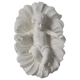 Presepe completo 30 cm polvere di marmo 9 pz s5
