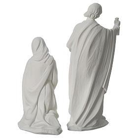 Presepe completo 30 cm polvere di marmo 9 pz s9