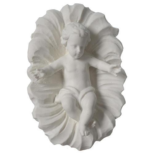 Presepe completo 30 cm polvere di marmo 9 pz 5