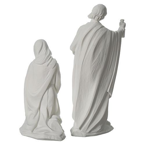 Presepe completo 30 cm polvere di marmo 9 pz 12