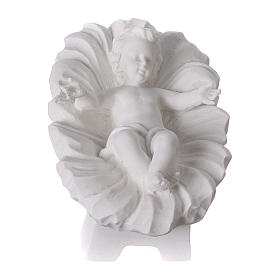 Complete Nativity set of 7 pieces in Carrara marble dust, 30cm s3