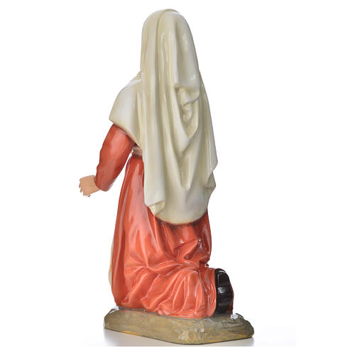 Statue of Saint Bernadette 63cm, colored marble 3