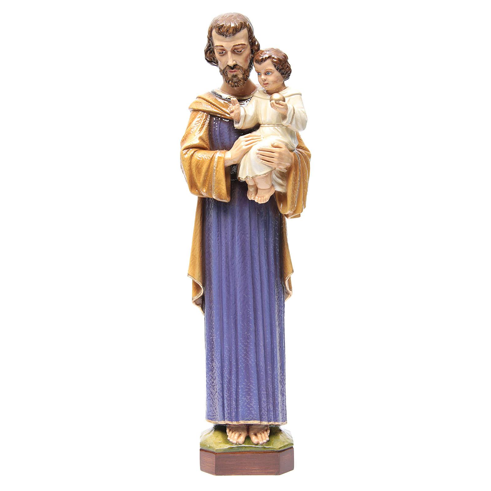 Saint Joseph 65 cm in painted marble 4