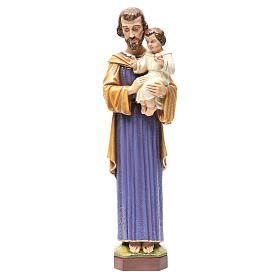Saint Joseph 65 cm in painted marble s1
