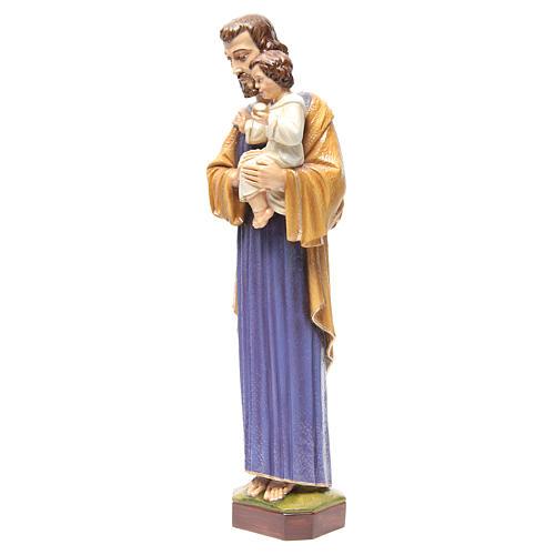 Saint Joseph 65 cm in painted marble 2