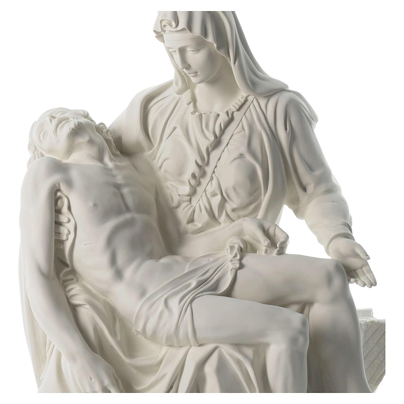 Statua Pietà polvere di marmo 70 cm 4
