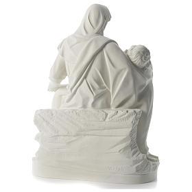Statua Pietà polvere di marmo 70 cm s5