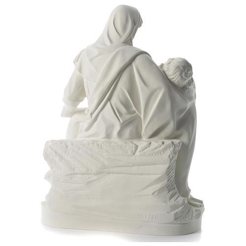 Statua Pietà polvere di marmo 70 cm 5