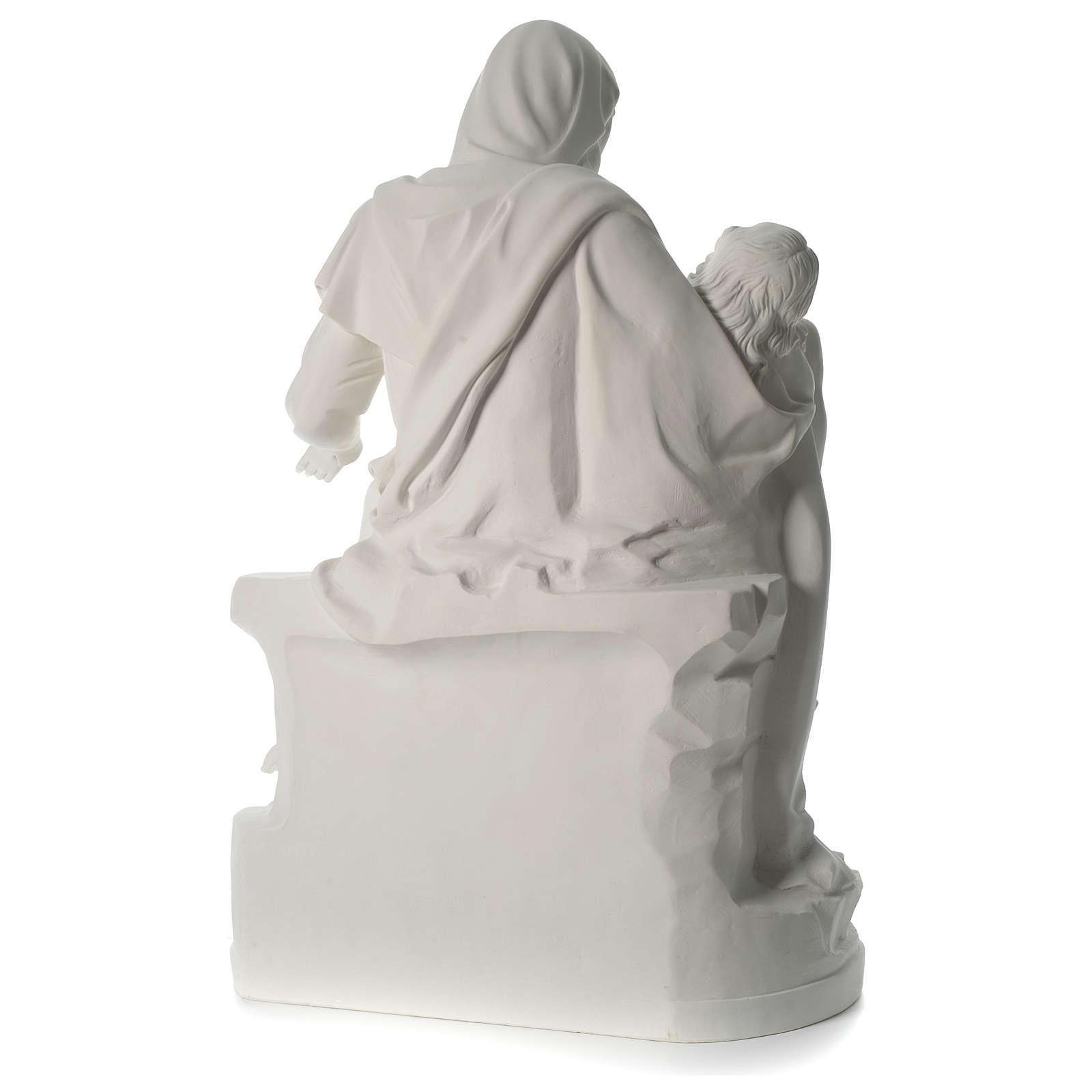 Statua Pietà marmo sintetico 100 cm 4