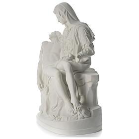 Statua Pietà marmo sintetico 100 cm s3