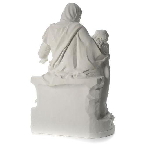 Statua Pietà marmo sintetico 100 cm 5