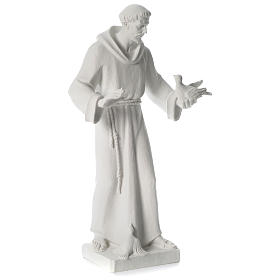 Saint Francis holding doves in synthetic marble 80 cm s4