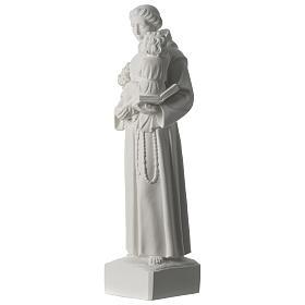 Sant'Antonio da Padova marmo sintetico 56 cm s3