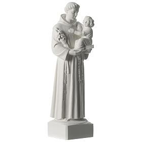 Sant'Antonio da Padova marmo sintetico 56 cm s4