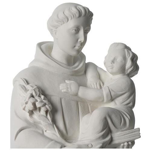 Sant'Antonio da Padova marmo sintetico 56 cm 2