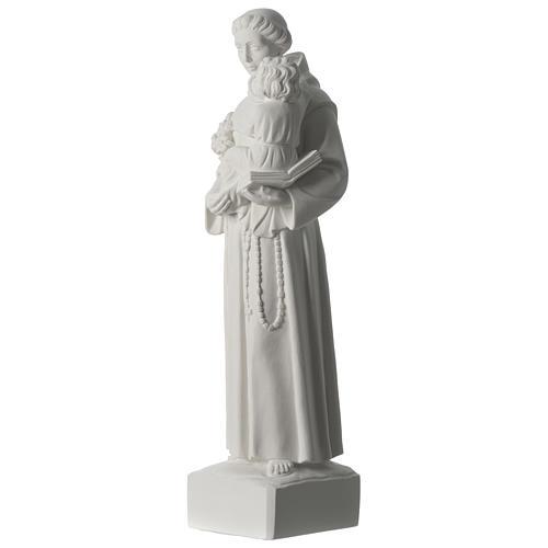 Sant'Antonio da Padova marmo sintetico 56 cm 3