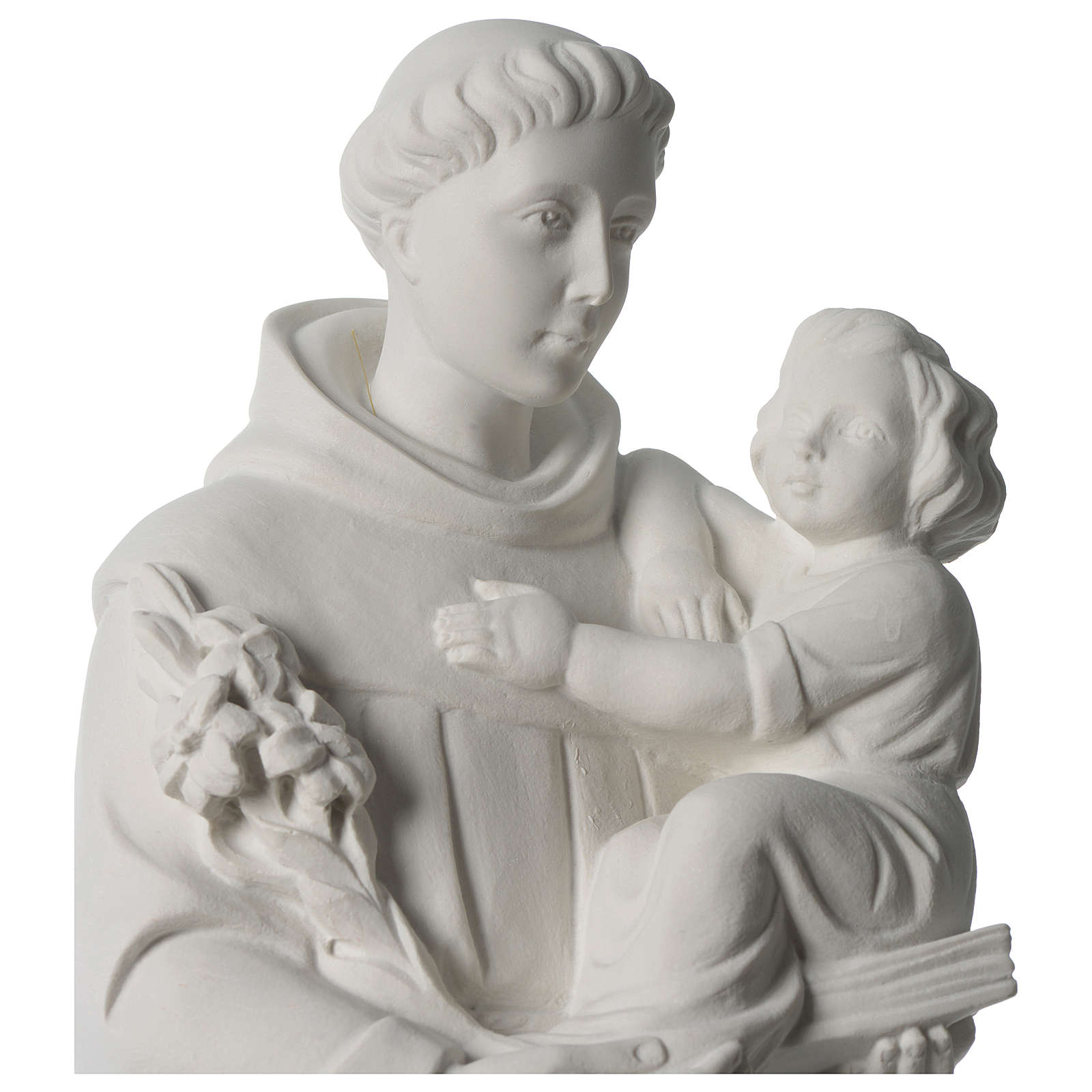 Saint Anthony of Padua composite marble statue 22 inches 4