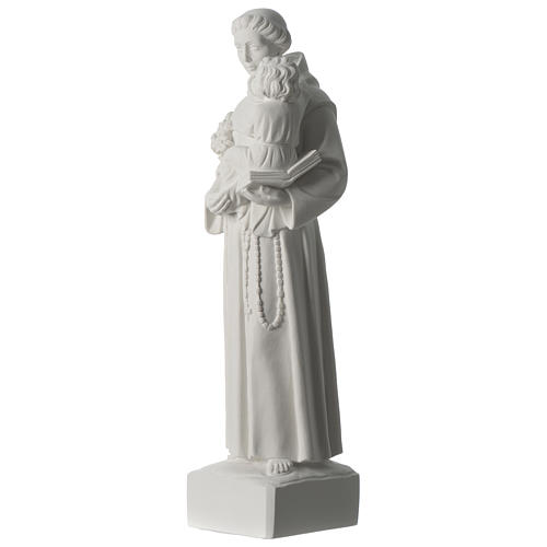 Saint Anthony of Padua composite marble statue 22 inches 3
