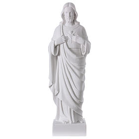 Sagrado Corazón de Jesús polvo de mármol 62 cm s1