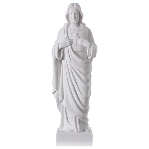 Sagrado Corazón de Jesús polvo de mármol 62 cm 1