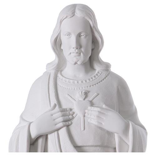 Sagrado Corazón de Jesús polvo de mármol 62 cm 2
