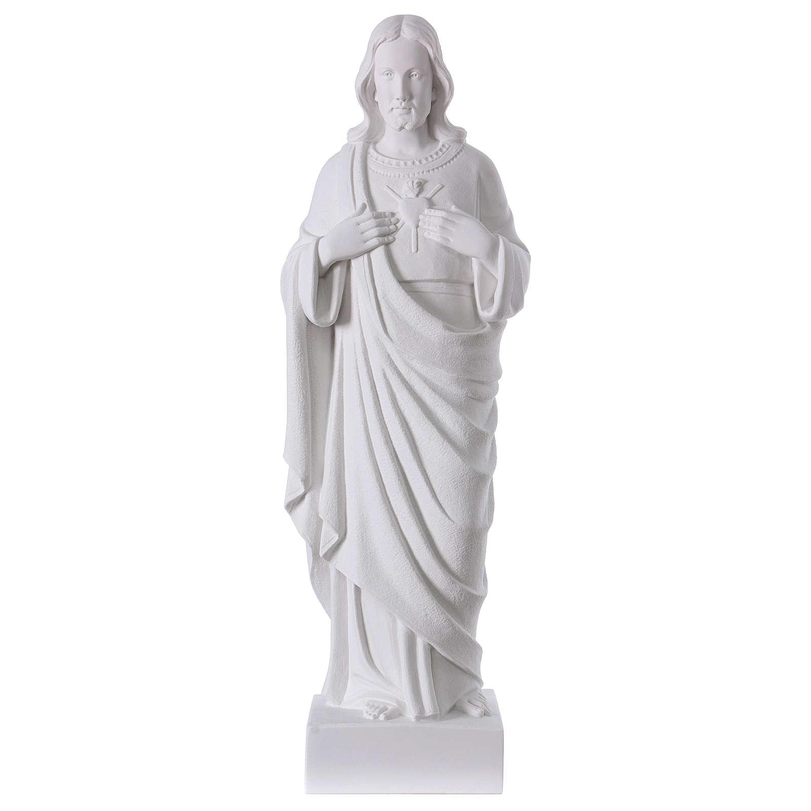 Sacro Cuore di Gesù polvere di marmo 62 cm 4