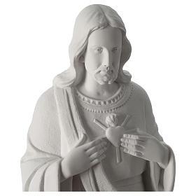 Sacro Cuore di Gesù polvere di marmo 62 cm s2