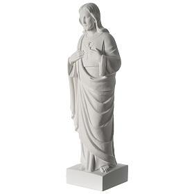 Sacro Cuore di Gesù polvere di marmo 62 cm s3