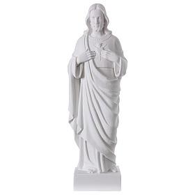 Sacro Cuore di Gesù polvere di marmo 62 cm s1