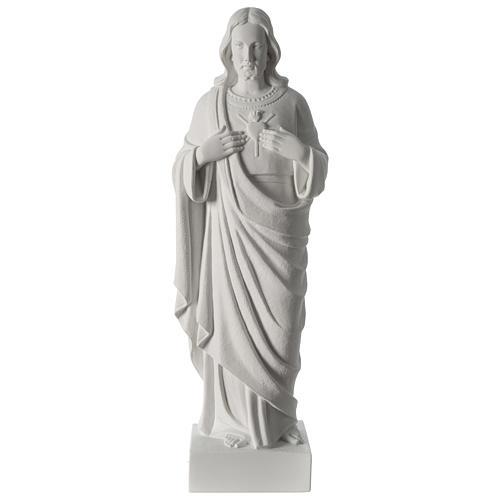 Sacro Cuore di Gesù polvere di marmo 62 cm 1