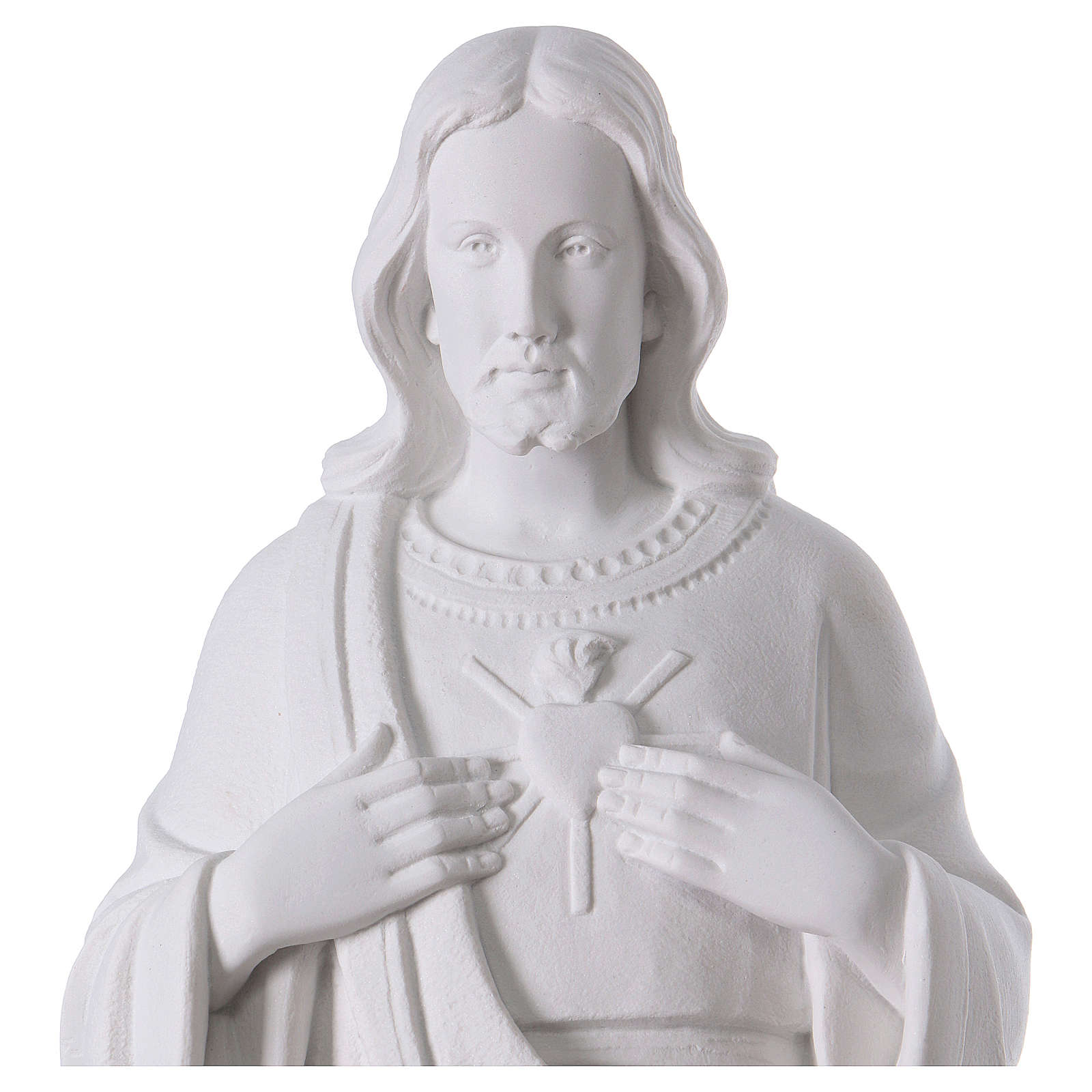 Holy heart of Jesus white composite mable 24 inc 4