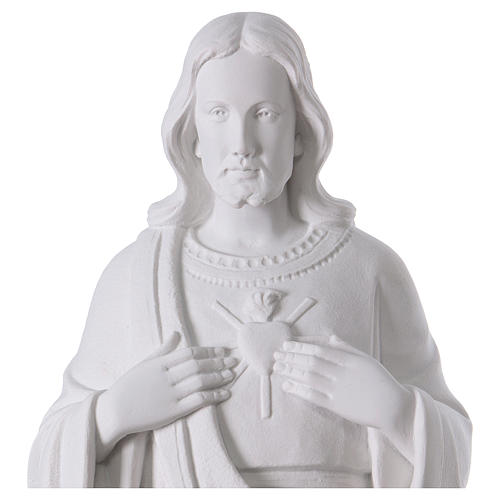 Holy heart of Jesus white composite mable 24 inc 2