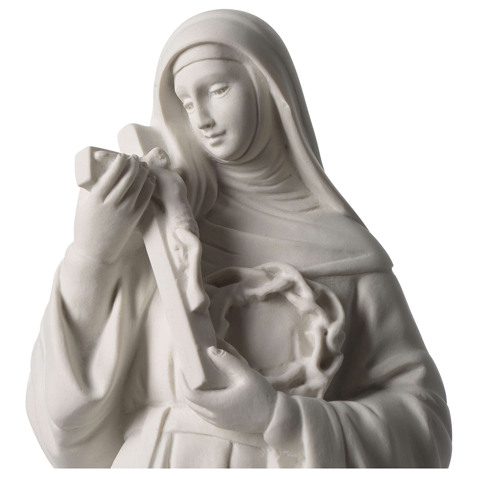 Saint Rita statue in white marble dust sized 39 cm 4